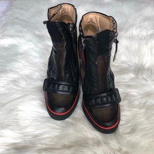 e29d184d86f8 L.A.M.B. Shoes - L.A.M.B Black Heels Stephanie Wedge Sneaker 8.5